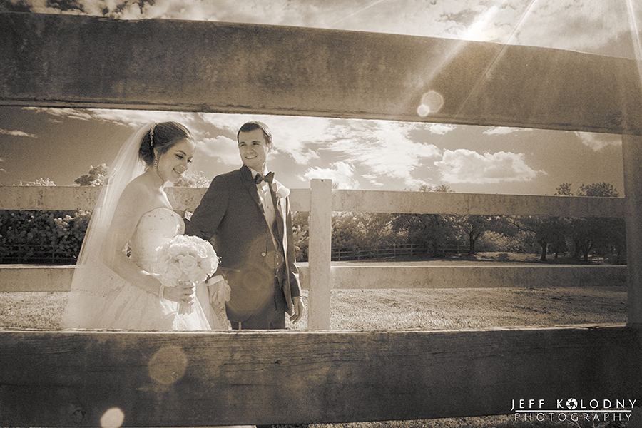 This walking bride and groom shot was shot using a modified infrared camera.