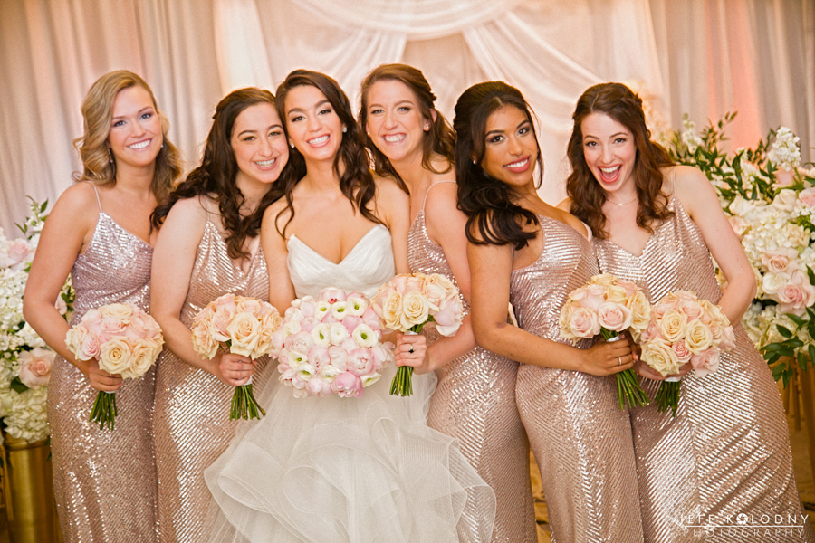 Ella and her Bridesmaids in a Fun Casual Pose.