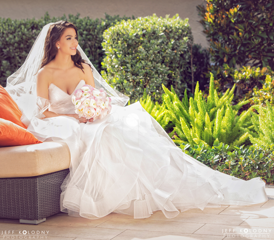 Sitting on one for the Polo Clubs Sofas the lighting was perfect for this bridal portrait.