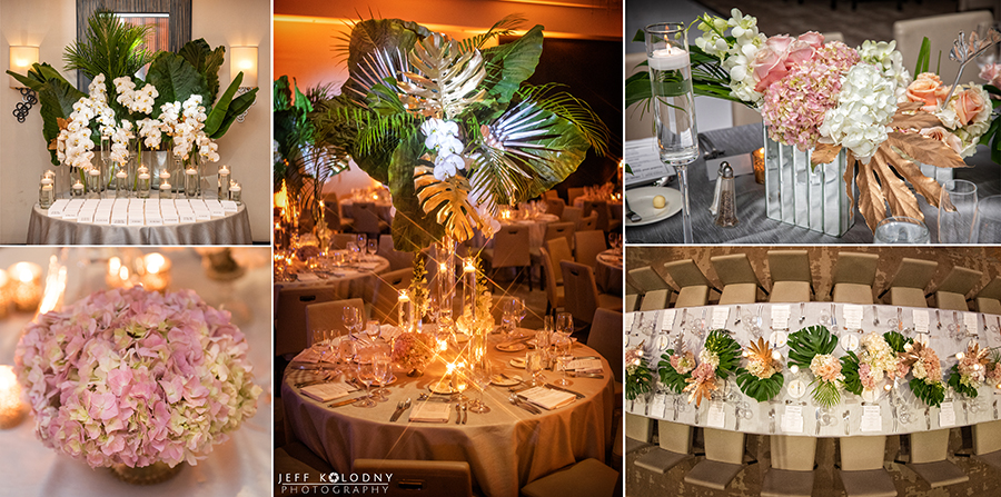 Check out this beautiful ballroom decor at the Eden Roc Hotel.