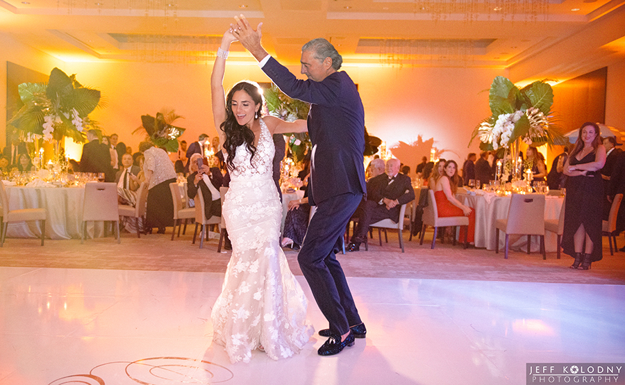 Bride and her father dancing at this South Florida Jewish wedding.