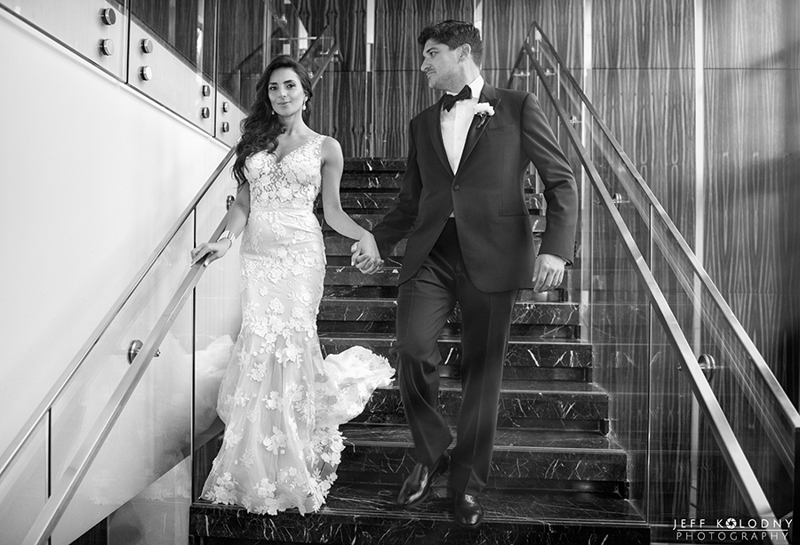 The staircase at the Eden Rock in Miami is great for Bride and Groom photos.