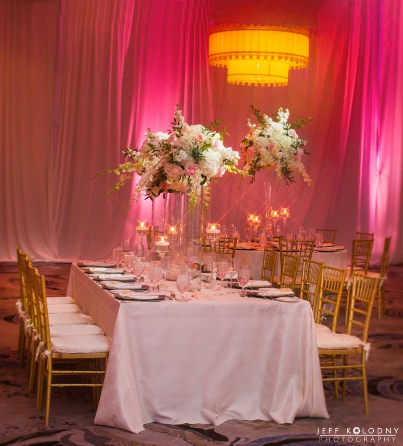 Wedding Decor Photography at the Polo Club of Boca Raton in South Florida