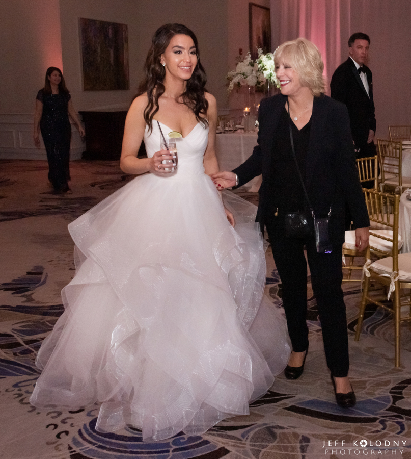"The Bride ""Ella"" and the wedding planner ""Joni"" checking out the reception ballroom at The Polo Club in Boca Raton."