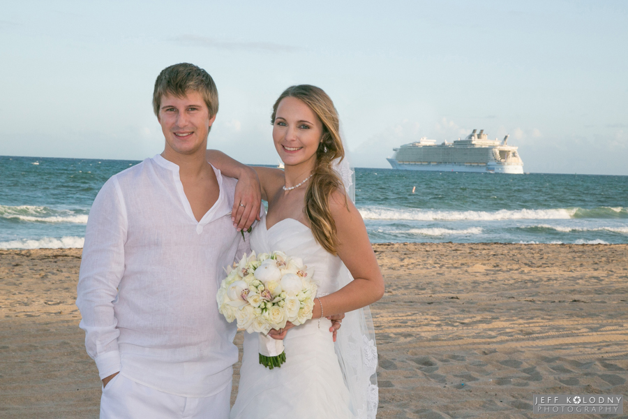 During your wedding guest are often treated to a view of cruise ships leaving Port Everglades.