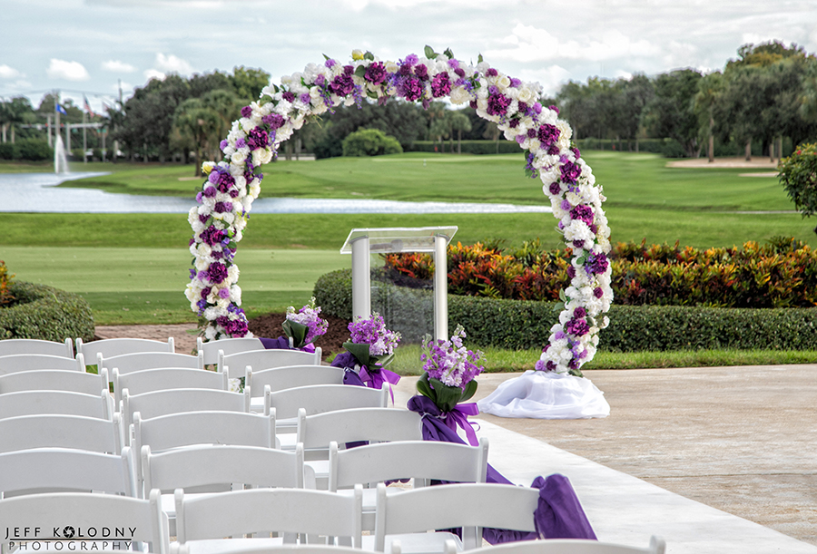 Outdoor Wedding Ceremony location at Boca Point Country Club, Boca Raton FL.