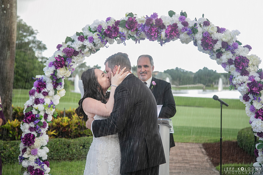 Wedding ceremony photo taken at The Club at Boca Pointe.
