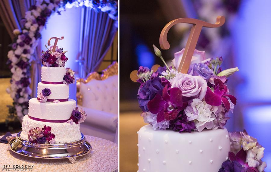 Wedding cake at a Boca Point wedding.