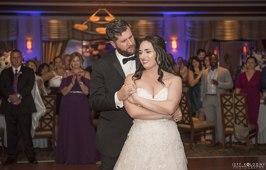 """Bride and Groom's """"First Dance"""" at Boca Pointe Country Club."""