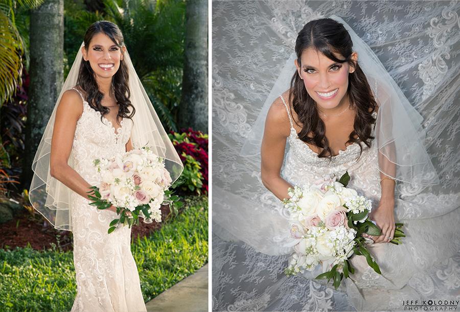 Bride posing at her Broward County wedding
