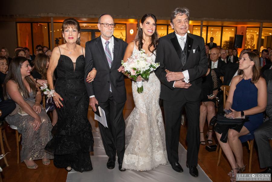 Wedding ceremony photo taken at at Broward County Jewish wedding.