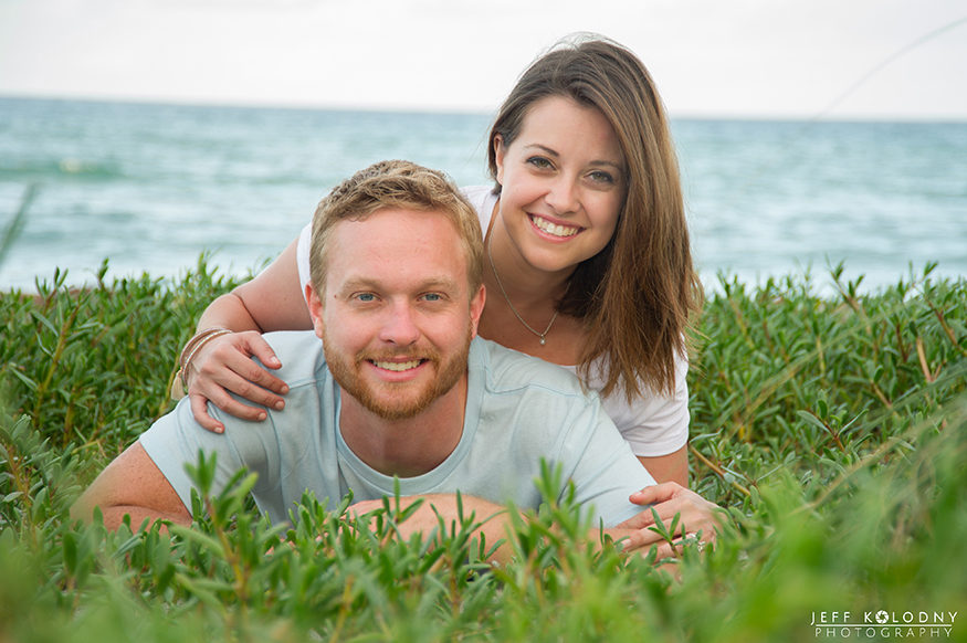 Fun poses are a favorite tips for posing. This South Florida beach engagement picture was easy with a simple pose.