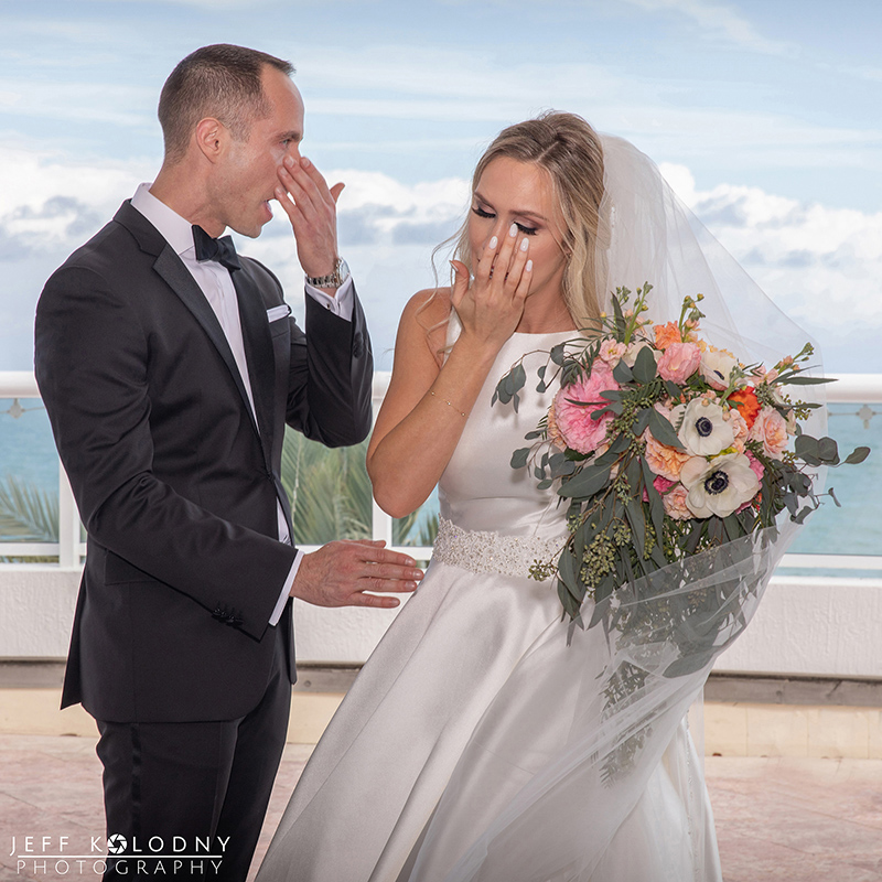 Capturing a bride and grooms tears and emotions should be the mission of any South Florida photographer