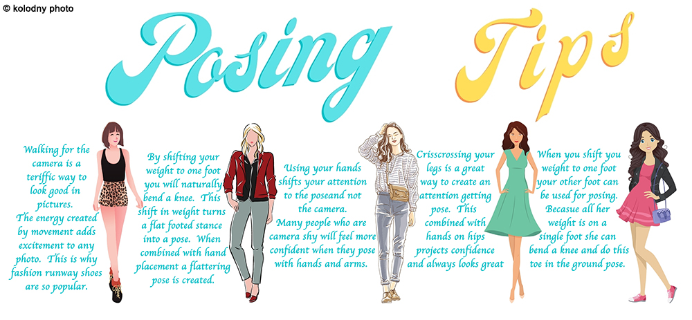 This guide on tips for posing along with this article, should be a real confidence builder.