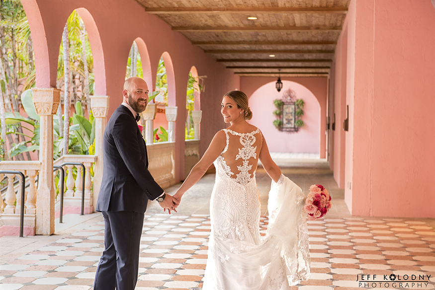 This Boca Raton wedding picture was taken at the Boca Resort convention building.