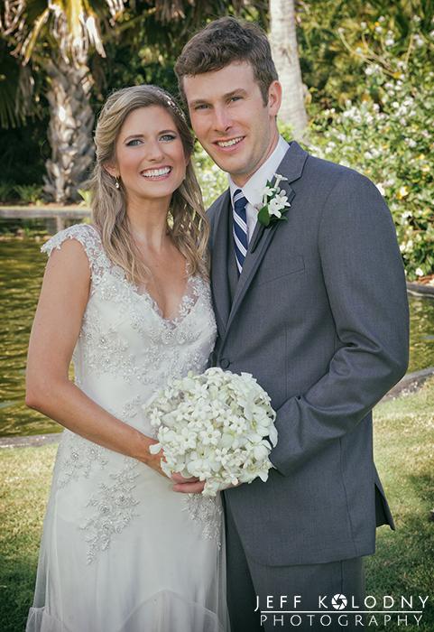 Ocean Reef Club Bride and Groom Wedding Photo.