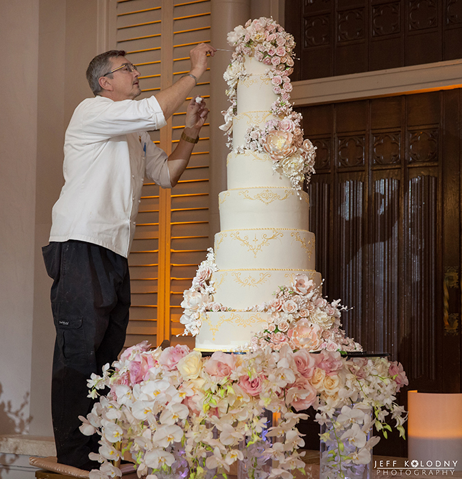 This is one of the tallest cakes I have seen at a Boca Resort wedding.