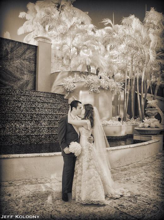 Miami wedding photograph taken at the Ritz-Carlton Coconut Grove.