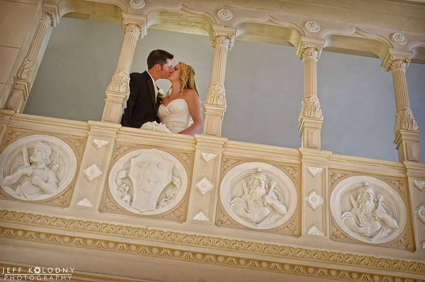 Bride and Groom share a kiss at their Boca Resort wedding.