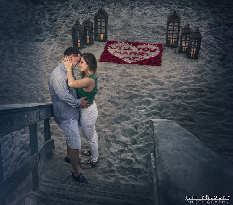 Recently Engaged on the beach in Boca Raton, she had no idea this was coming.