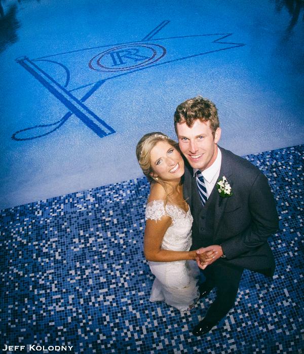 Bride and Groom at Ocean Reef Club.