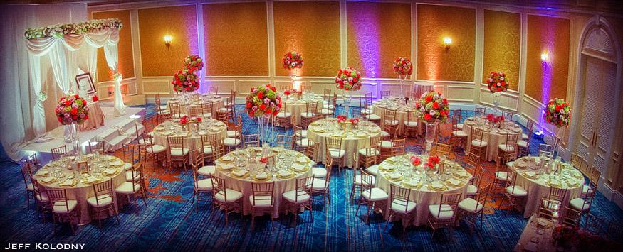 Wedding reception ballroom in Miami.