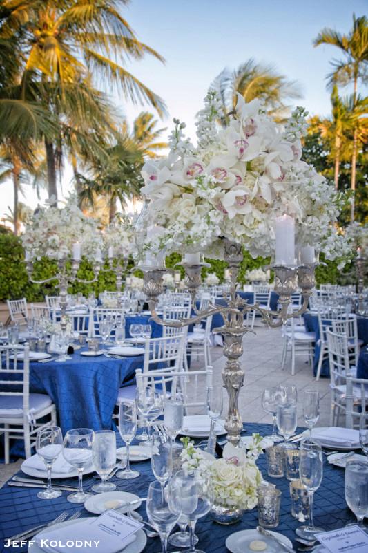 Beautiful wedding decor shot at the Ocean Reef Club.