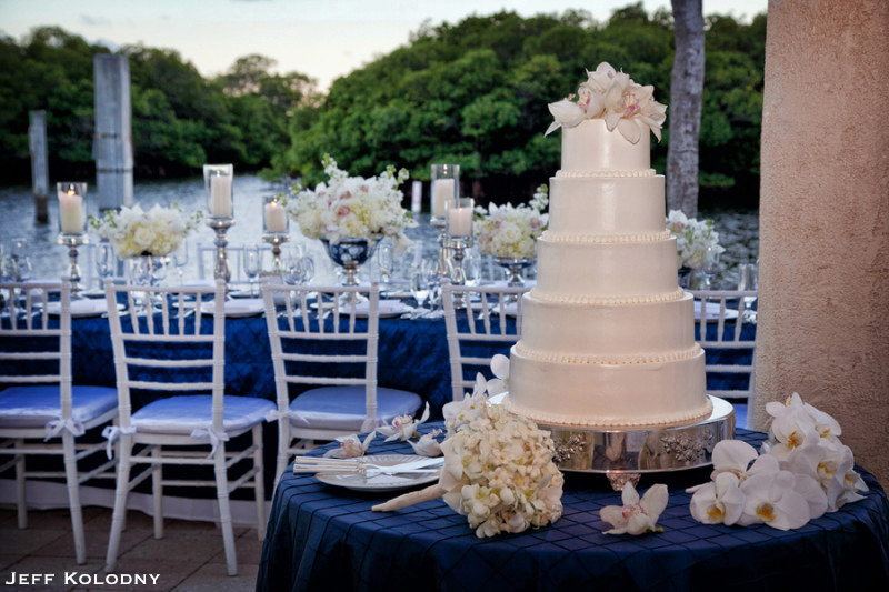 Wedding Cake photo taken at The Ocean Reef Club.