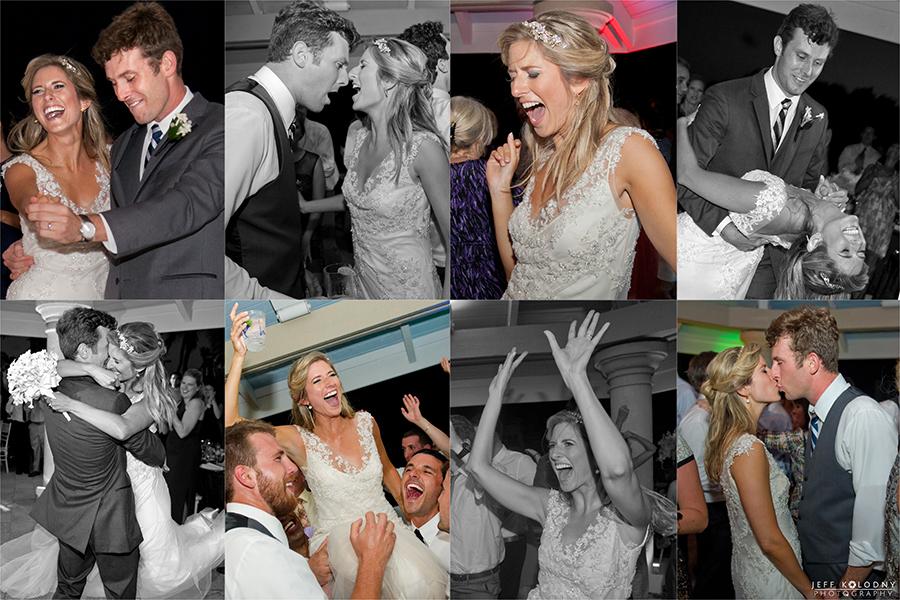 Ocean Reef Club wedding reception party shots.