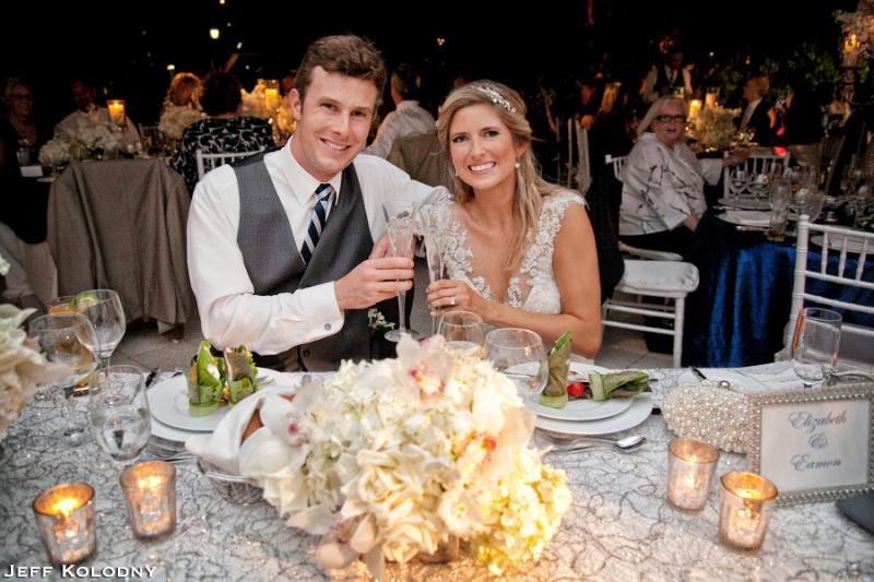 Bride and Groom enjoying their Ocean Reef wedding.