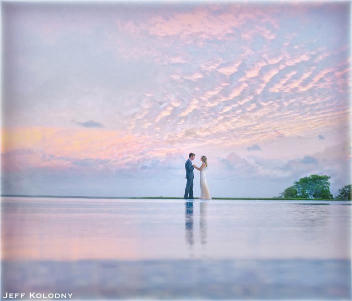 Ocean Reef Club artistic wedding photo.