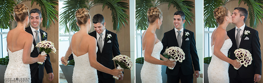 As a Fort Lauderdale wedding photographer the first look is one of my favorite events to capture.
