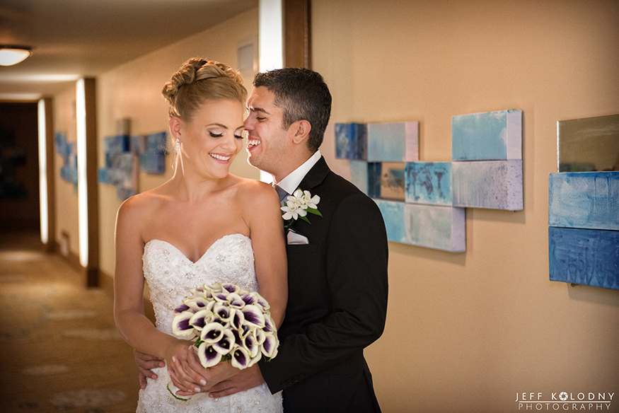 Bride and Groom share a moment the the Ritz-Carlton a luxury Fort Lauderdale wedding venue