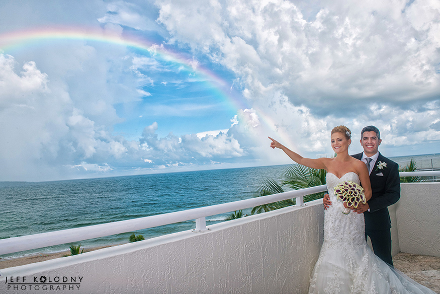 YES, there was a beautiful rainbow over Fort Lauderdale during the cocktail hour.