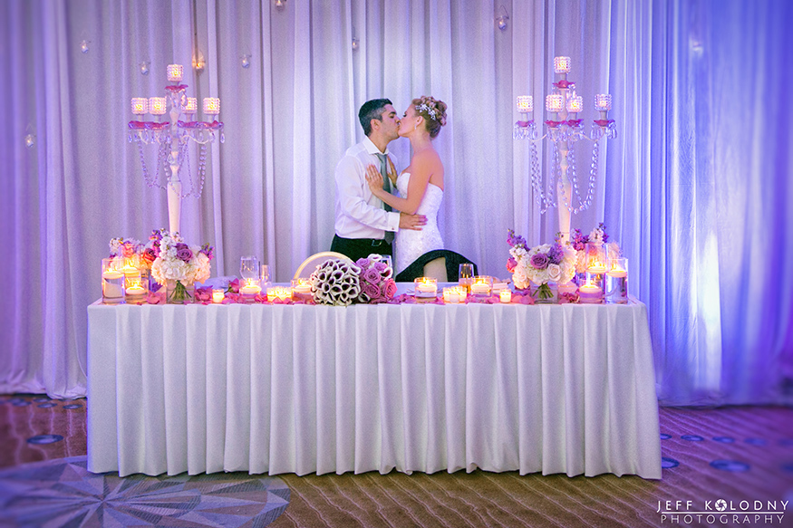 Bride and Groom kissing at their Fort Lauderdale wedding.