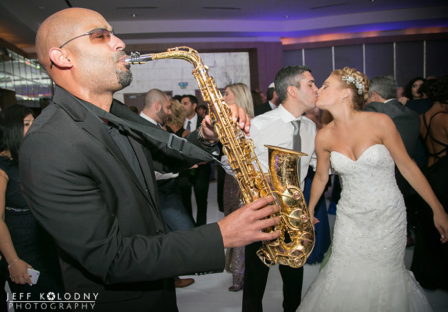 Having a band at your wedding creates an opportunity for great photo ops.