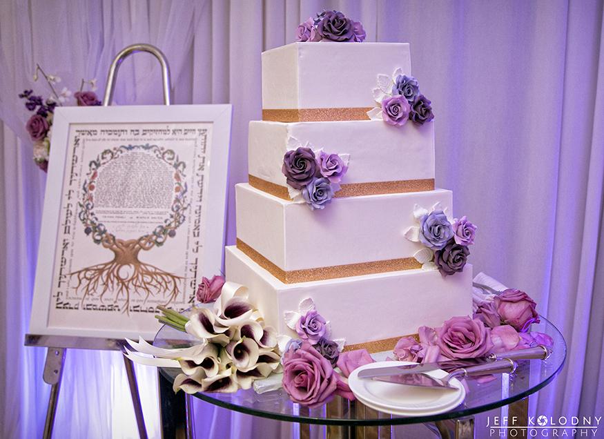 Wedding cake photo taken at a Fort Lauderdale wedding.