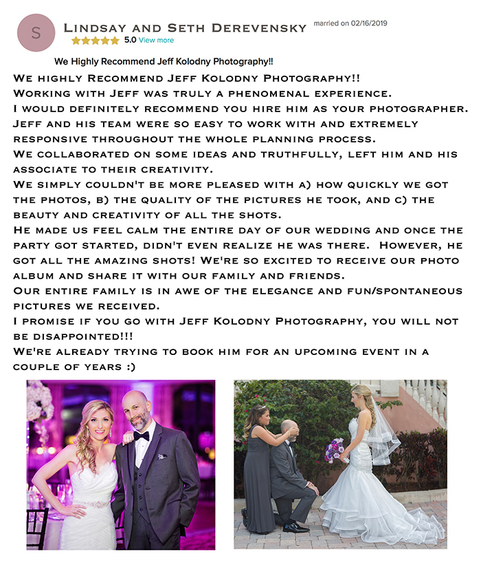 Thank you note from a very happy South Florida Bride and groom.