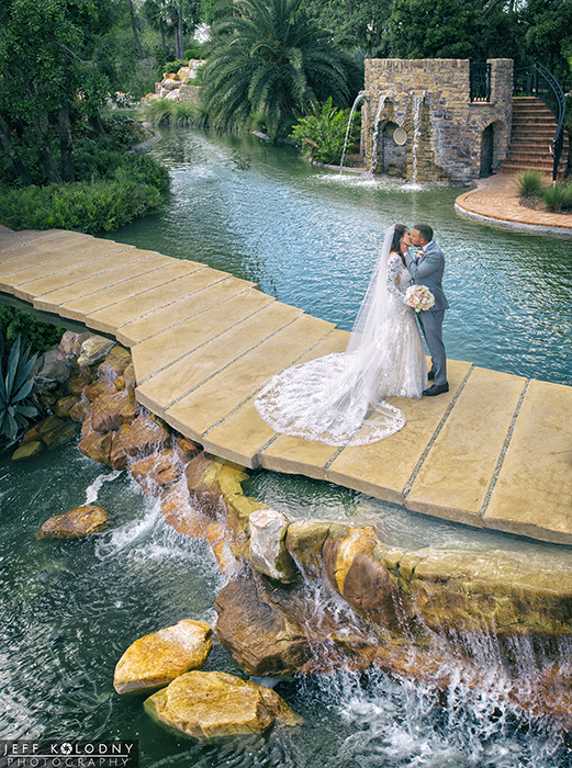 Here is a unique Bride and Groom photo taken at Parkland Country Club.