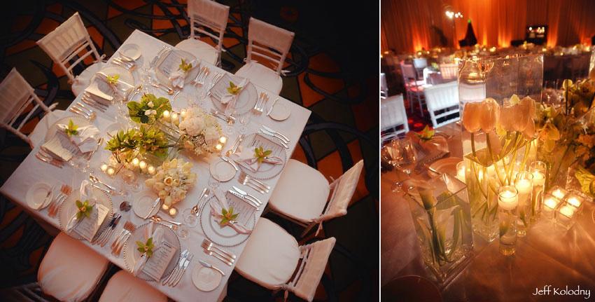 Table decor photos taken at the Ritz Carlton in South Beach.
