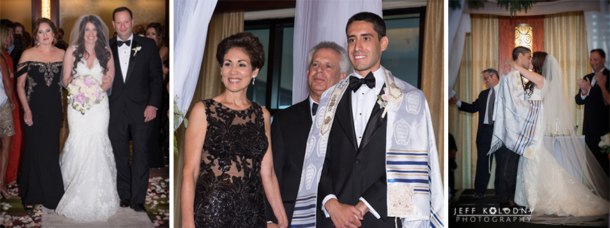 Jewish wedding ceremony in the Ocean Ballroom