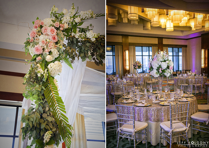 The Ocean Ballroom at the Harbor Beach Marriott is perfect for a luxury Florida wedding.