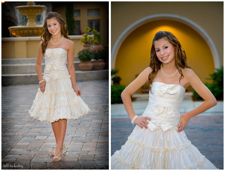 Posing for Bat Mitzvah Pictures becomes easy if you are given the right direction.