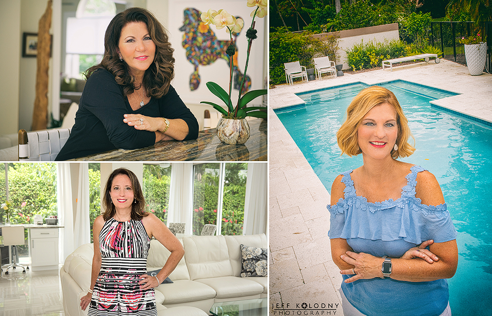 Headshots taken in a Boca Raton home. In South Florida I often get asked to create headshot in homes.