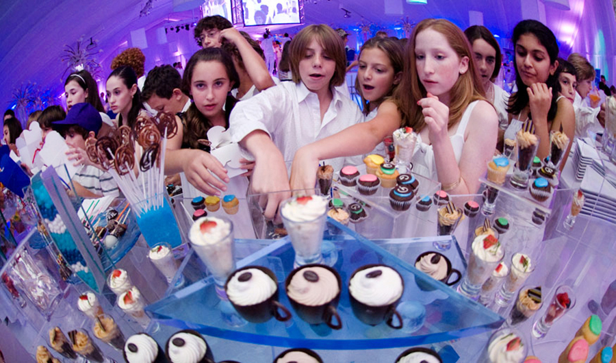 Dessert table at a South Florida Bar Mitzvah.