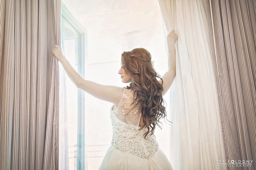 Bride starting her day at the Diplomat Hotel