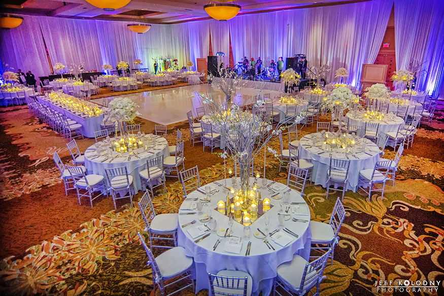 The ballroom at the Diplomat Hotel looked magnificent.