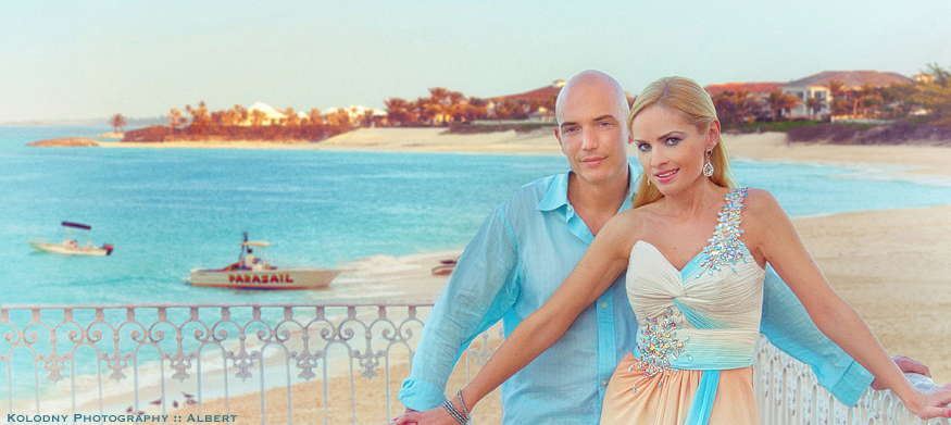 Bride and Groom pre wedding picture taken in Paradise Island