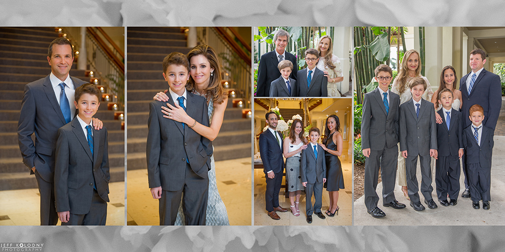 Bar Mitzvah family pictures taken at Woodfield Country Club.