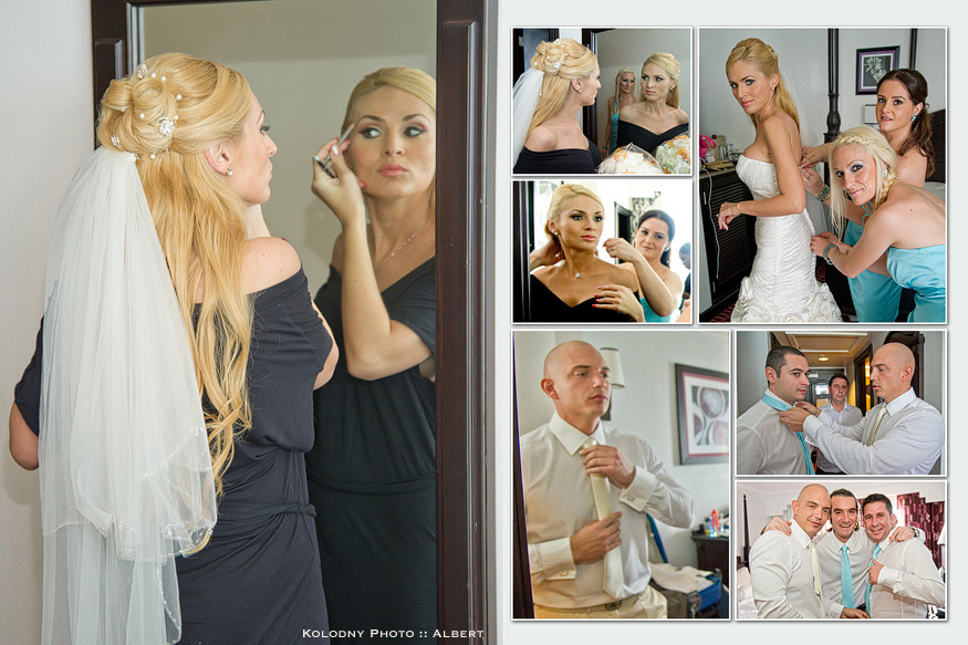 Bride getting ready for her Bahamas wedding.
